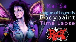 Kai'Sa Riot Campus League of Legends Body Paint Timelapse Tutorial