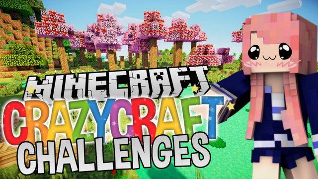 LDShadowLady - Try Not to Die | Ep. 1 | Minecraft Crazycraft Challenges -  Twitch