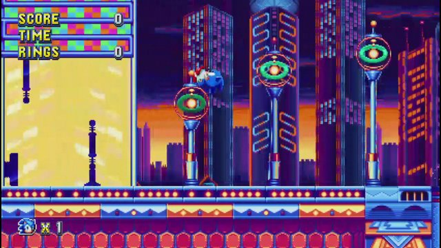Sonic Mania Studiopolis act 1 time trial #2 on PC 9/4/17