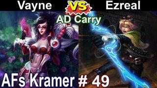 AFs Kramer - Vayne vs Ezreal - KDA 10/0/5 highlight | KR