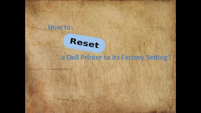 dell reset to factory settings