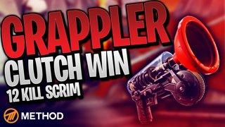 GRAPPLE CLUTCH 12 KILL SCRIM! | Method Fortnite