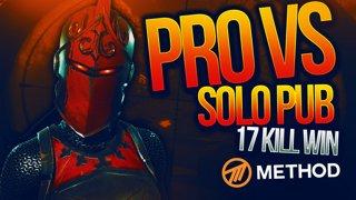 PRO FORTNITE PLAYER VS PUBLIC LOBBY! 17 KILL SOLO WIN!