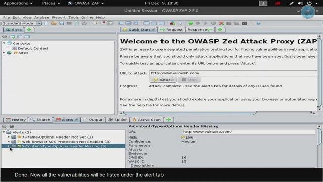 Scanning Website for Vulnerabilities Using OWASP-ZAP - Kali Linux 2016 2 mp4