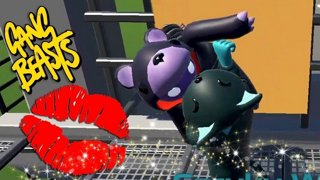 A MAKEOUT AND A BEAT-EM-UP | Gang Beasts Online Funny Moments Part 30