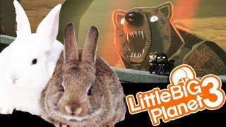 BUNNY MONSTERS AND SCARY SPOOKY | Little Big Planet 3 (PS4) Multiplayer Gameplay