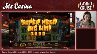 Super Mega Big Win on Penguin City on Casino Cruise!