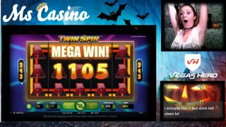 SUPER MEGA WIN on Twin Spin on Vegas Hero Casino