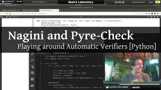 Nesh's Laboratory #9   Playing around with Nagini and Pyre, Python  Automatic Verifiers [Python]