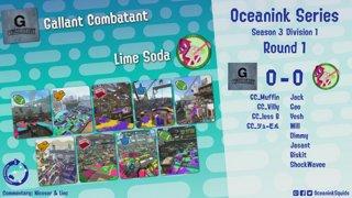 Oceanink Series Season 3, Week 1 - Gallant Combatant vs Lime Soda