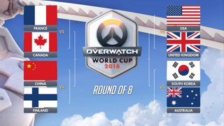 United Kingdom vs United States   BlizzCon QuarterFinals   Full Match   2018 Overwatch World Cup
