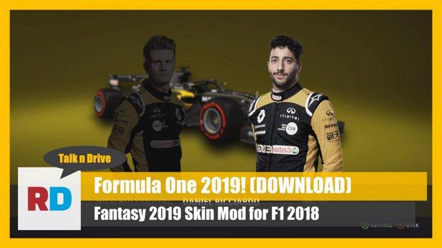 F1 2019 Season Mod V1 2 Talk n Drive