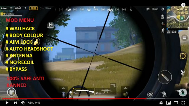 CHEAT PUBG MOBILE 9 0 5 WALLHACK + BODY COLOUR + AIM LOCK + AUTO HEADSHOT +  NO ROOT Android & IOS