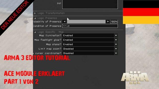 [RPGX] Arma 3 Eden Editor Tutorial #17 ACE Module Part 01 [GERMAN] (1080p  30fps H264 128kbit AAC)