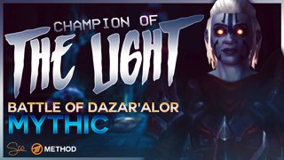 Mythic Champion of the Light - Battle of Dazar'alor - Method Sco Brewmaster Monk Tank POV
