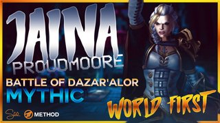 Mythic Jaina Proudmoore WORLD FIRST - Battle of Dazar'alor - Method Sco Brewmaster Monk Tank POV