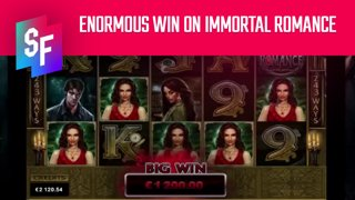 Two Enormous Wins On Immortal Romance (SlotsFighter)