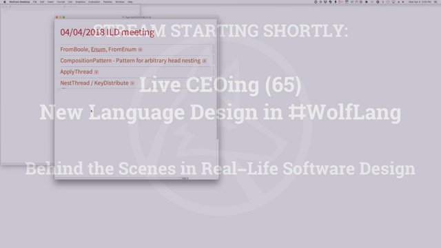 Live CEOing (65) New Language Design in #WolfLang