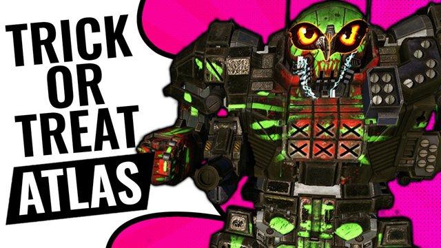 Spooky Stealth Atlas Halloween 2017 Edition Mechwarrior Online Mwo